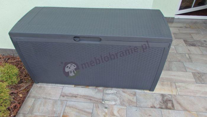 Antracytowa skrzynia na taras Keter Rattan Box