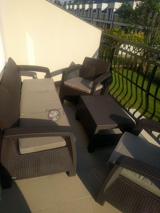 Balkonowe meble Corfu Set Max - Brąz