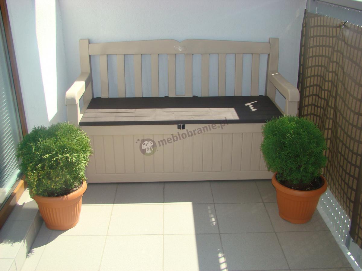 Beżowa ławka balkonowa Eden Garden Bench 265L
