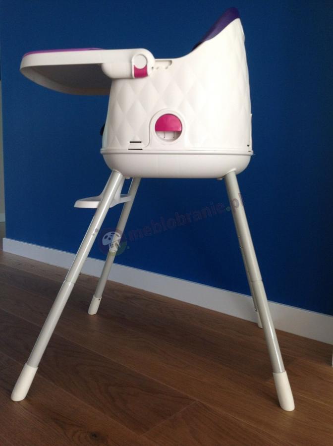 Bezpieczne krzesełko do karmienia dla dziecka fioletowe Keter Multidine