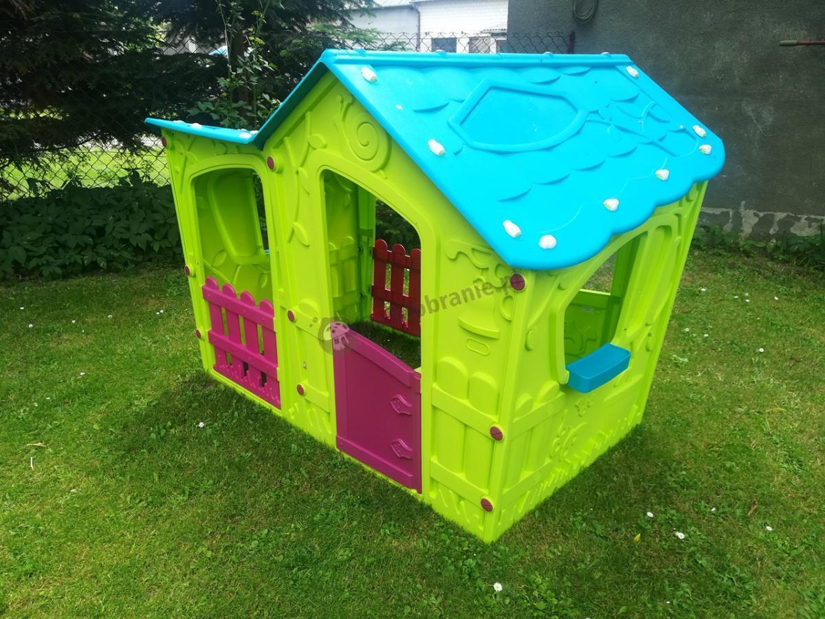 Bezpieczny domek dla dziecka ogrodowy plastikowy Keter Magic Villa