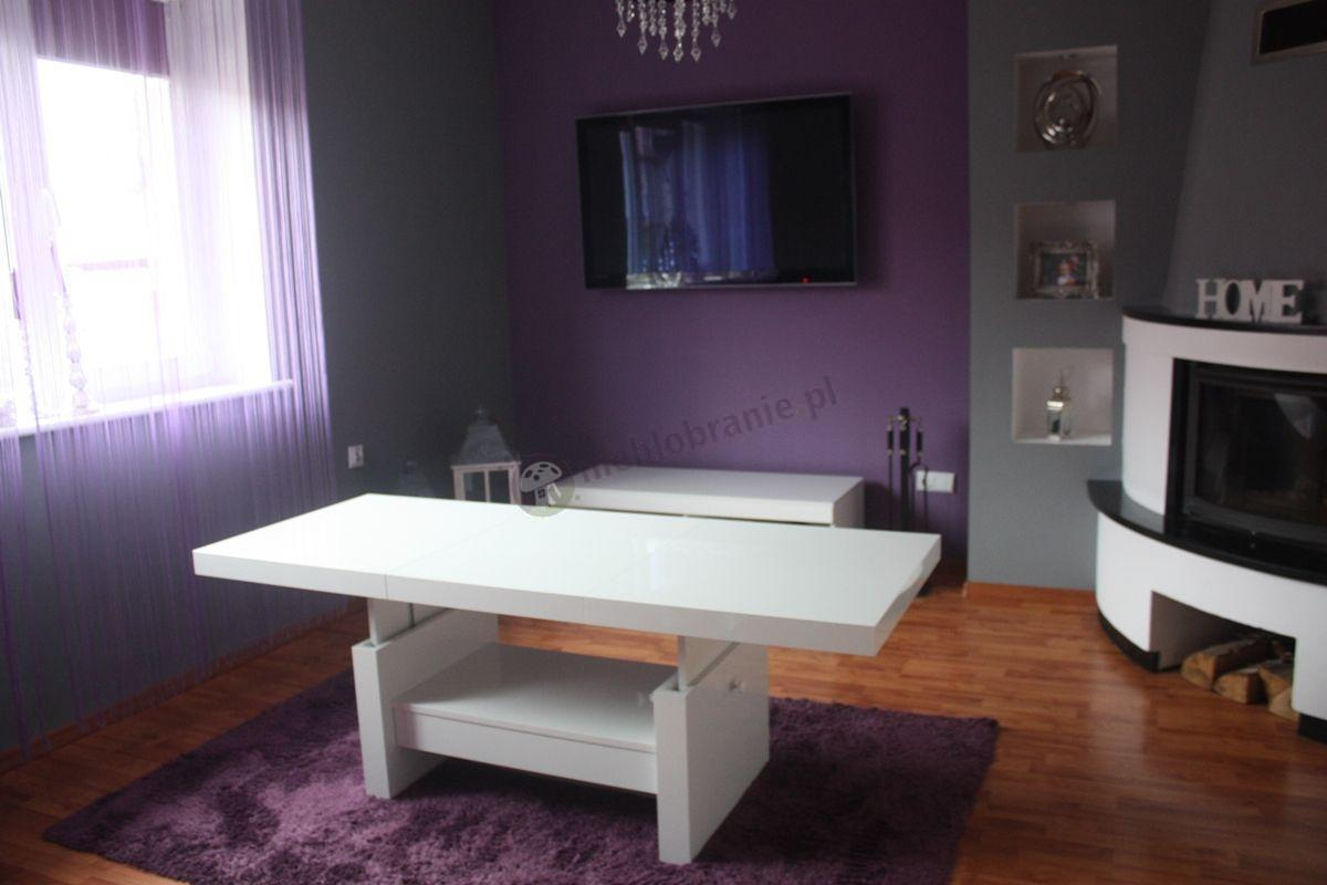 Biała ława Aversa w eleganckim salonie