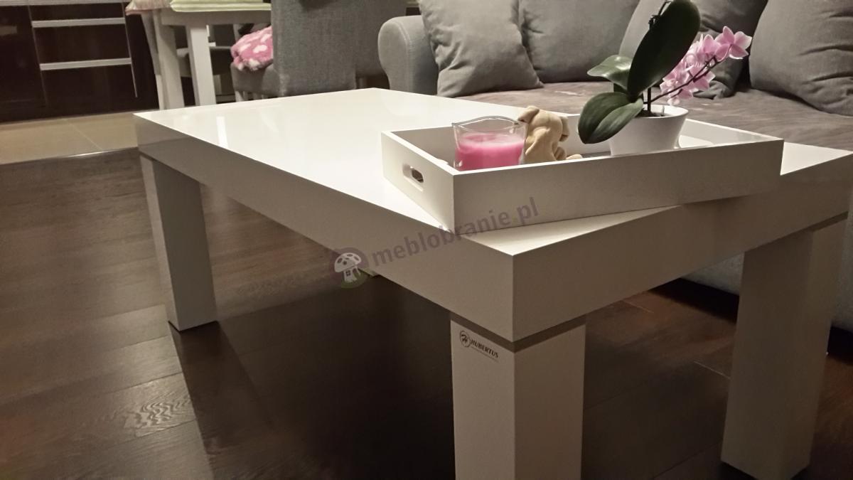 Biała ława stołowa do salonu Monaco