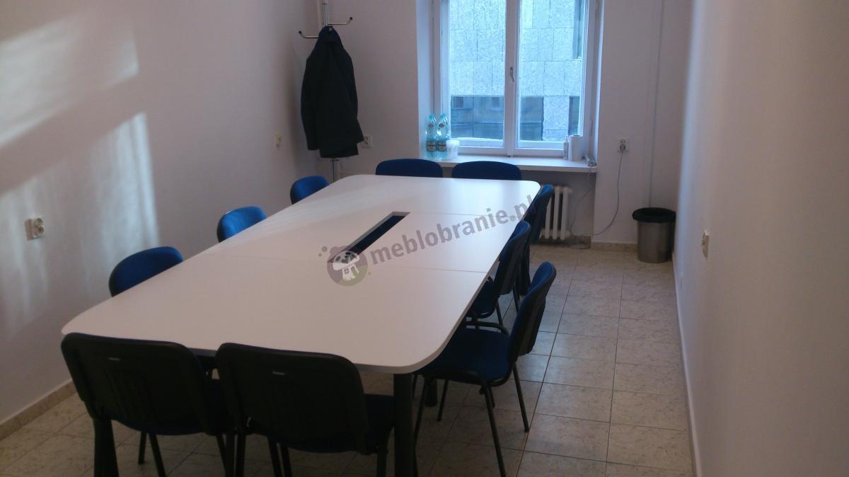 Biały stół na konferencje dla 10 osób Samba