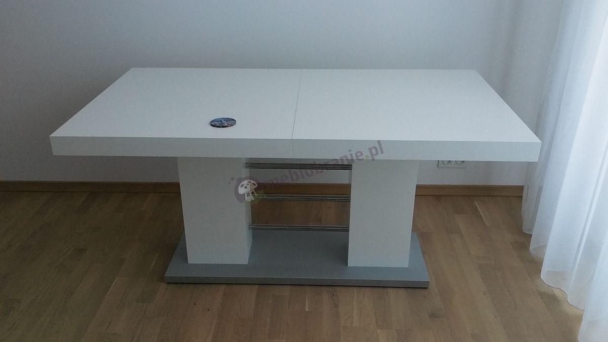 Biały stół w wysokim połysku Linosa 2