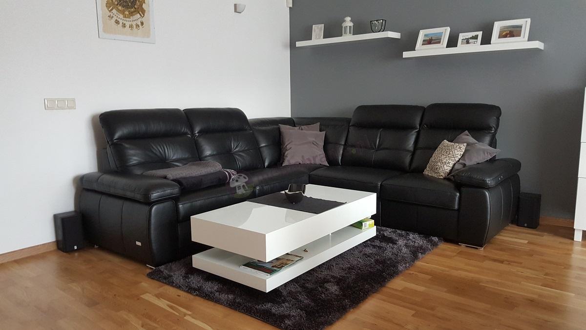 Biały stolik do salonu 120 cm wysokość 40 cm