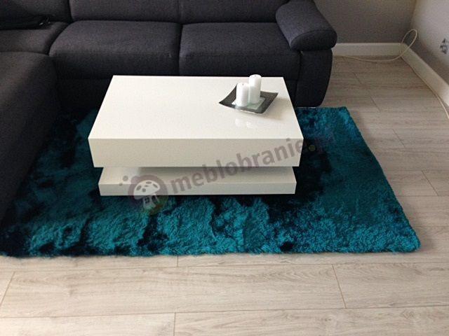 Biały stolik do salonu 90 cm wysokość 40 cm