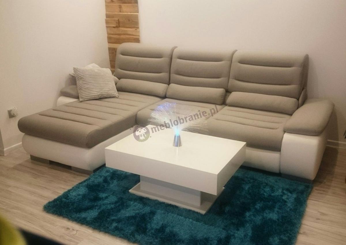 Biały stolik kawowy 90 cm nowoczesny do salonu