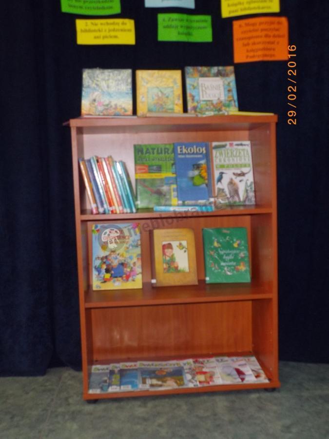 Biurowy regał na książki ustawiony w bibliotece