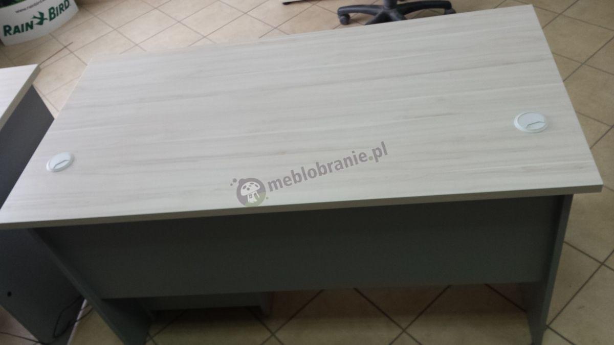 Blat biurka gabinetowego Svenbox w odcieniu klon-popiel