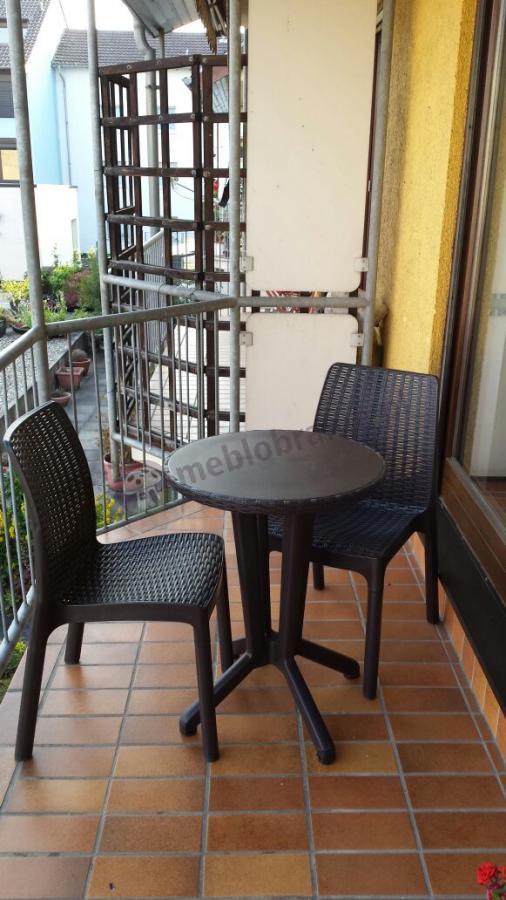 Brązowe meble balkonowe rattan look Bistro Set