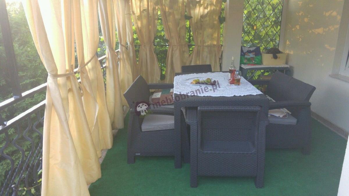 Brązowe meble ogrodowe rattan imitacja - Corfu Fiesta