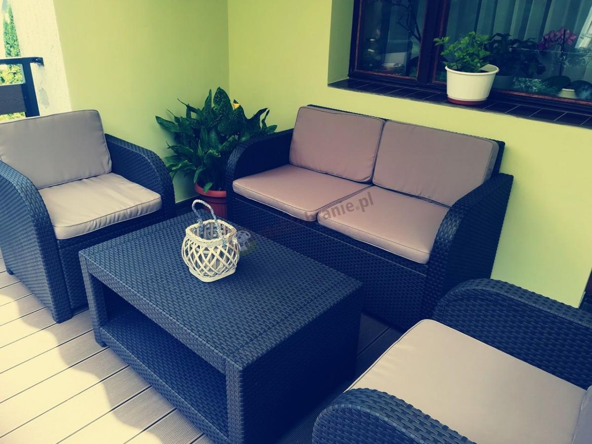 Brązowy zestaw ogrodowy na balkon Modena Lounge Set