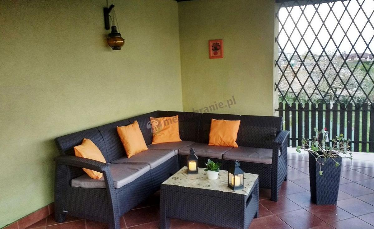 Brązowy zestaw ogrodowy narożnik Corfu Relax Set