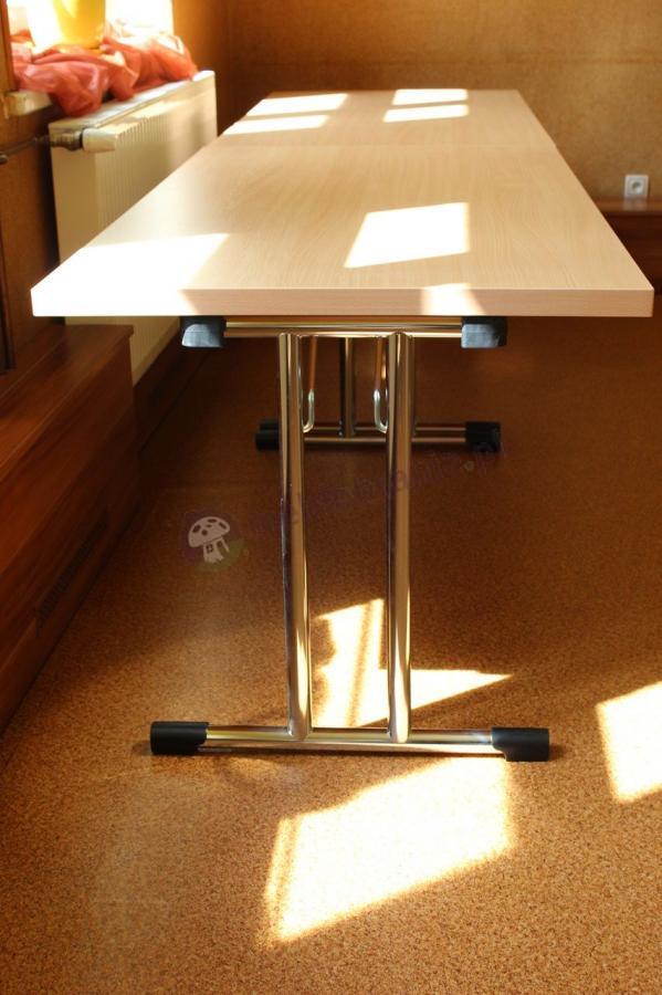 Chromowany stół konferencyjny składany VIP