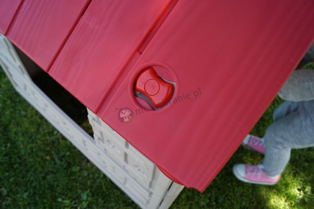 Dach domku dla dzieci Keter Foldable Playhouse zabezpieczenie składania