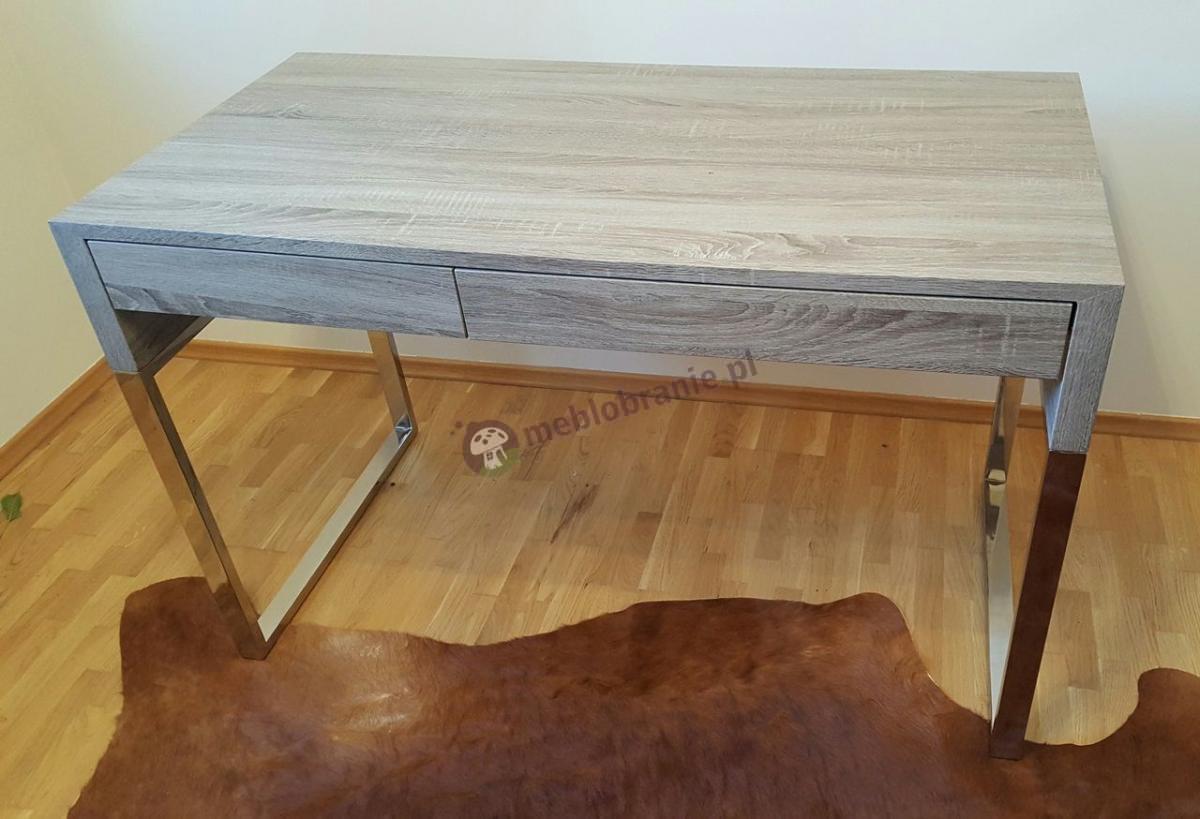 Designerskie biurko w kolorze dąb sonoma z szufladami