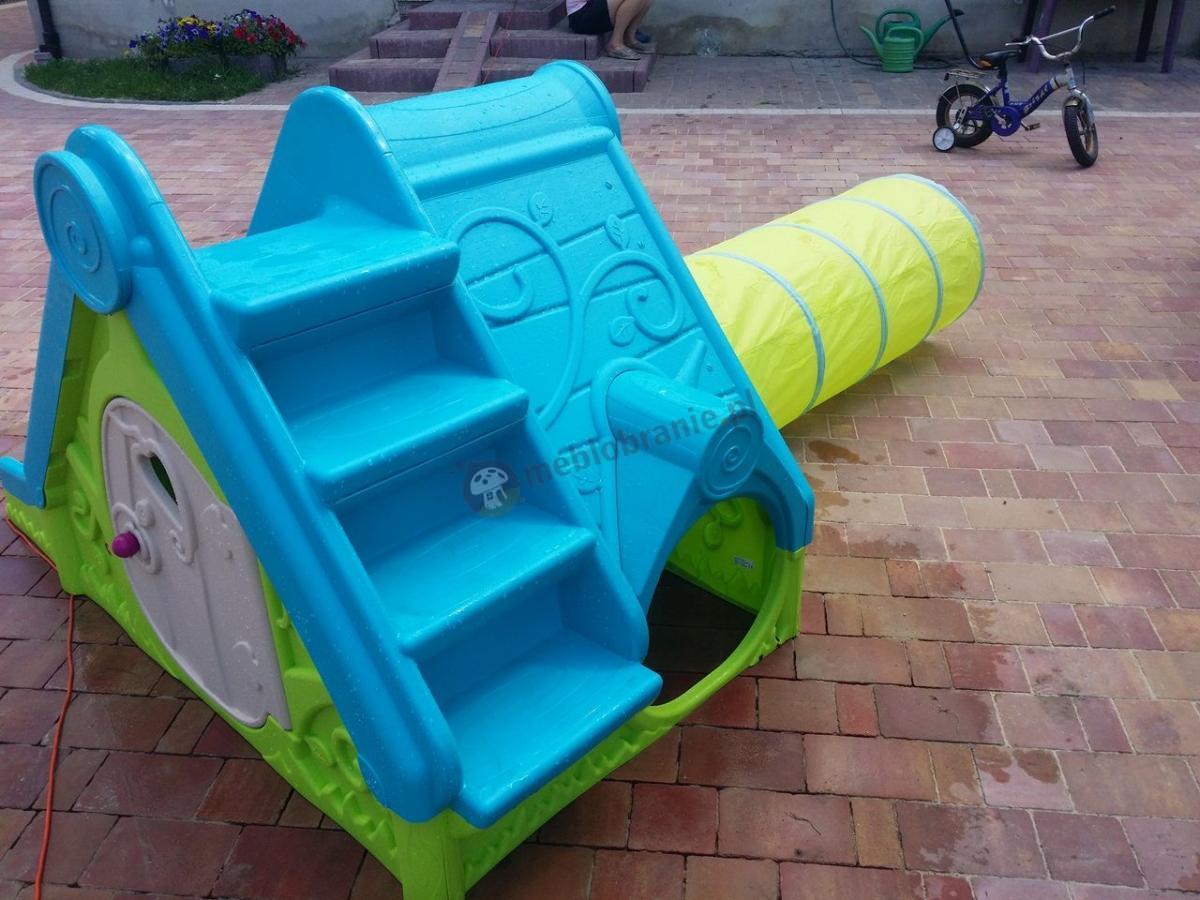 Domek dla dziecka z tunelem i zjeżdżalnią z tworzywa Keter