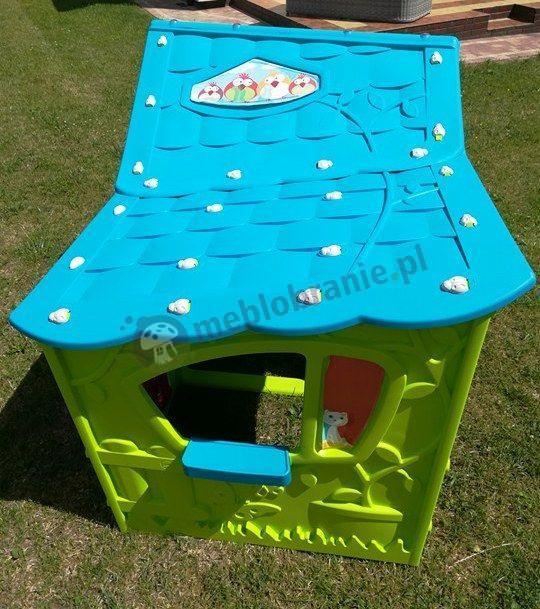 Domek ogrodowy dla dzieci z ptaszkami i kotkiem Magic Villa