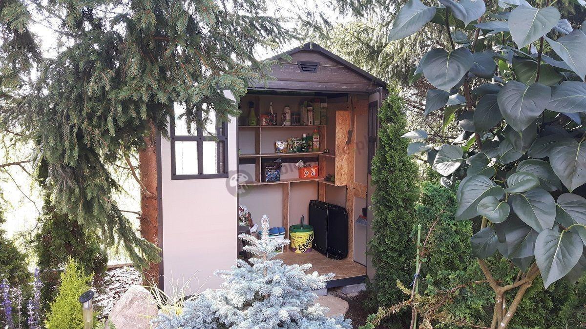 Domek ogrodowy Keter Skala z praktycznie urządzonym wnętrzem
