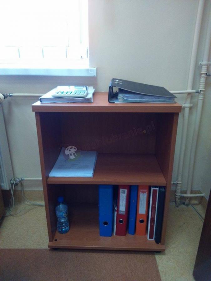 Dostawka do biurka w kolorze olcha stojąca oddzielnie