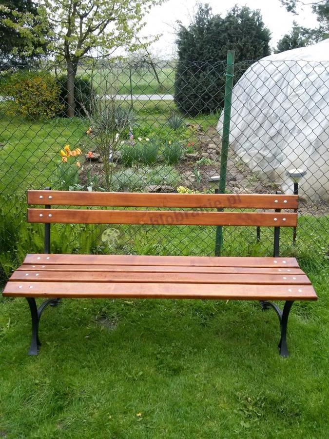 Drewniana ławeczka ogrodowa 150 cm