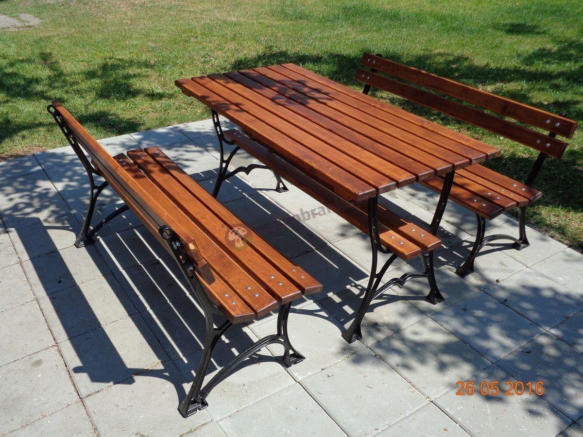 Drewniane meble ogrodowe Faktor bez podłokietników