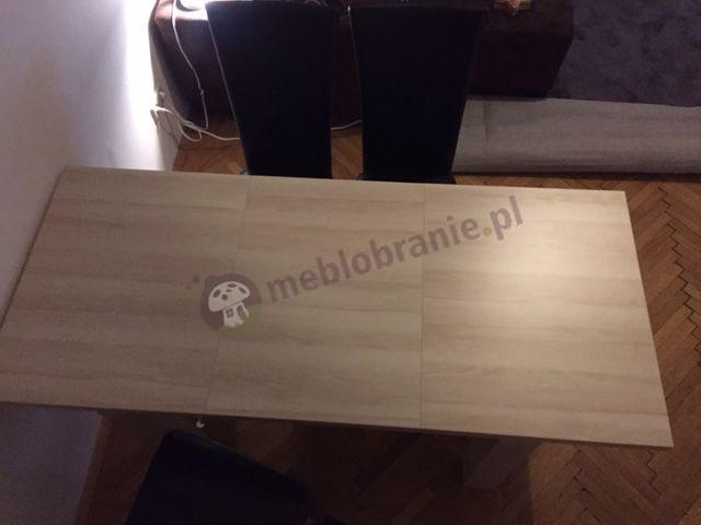 Drewnopodobny stół rozkładany do małego pokoju Luizjana