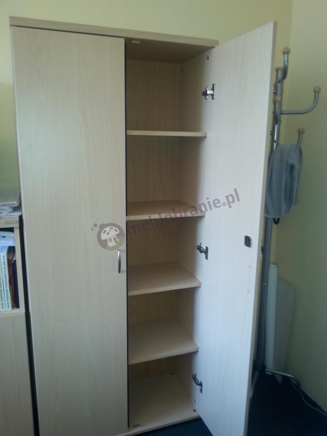 Duża szafa biurowa z zamkiem Svenbox H51