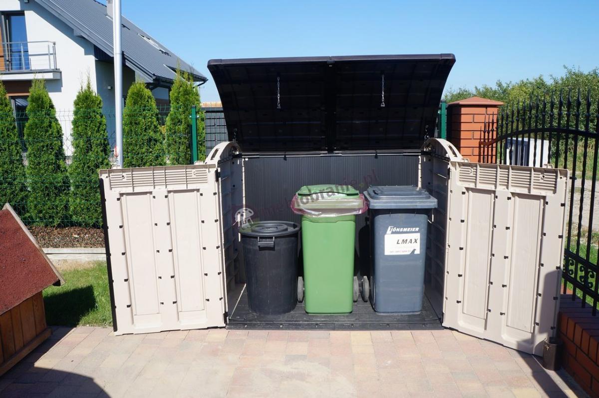 Duże skrzynie ogrodowe Keter Store-It-Out na pojemniki na śmieci