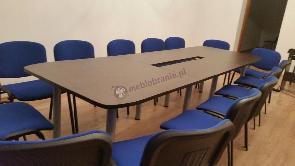 Duży stół konferencyjny z płyty melaminowanej dla 10 osób Samba