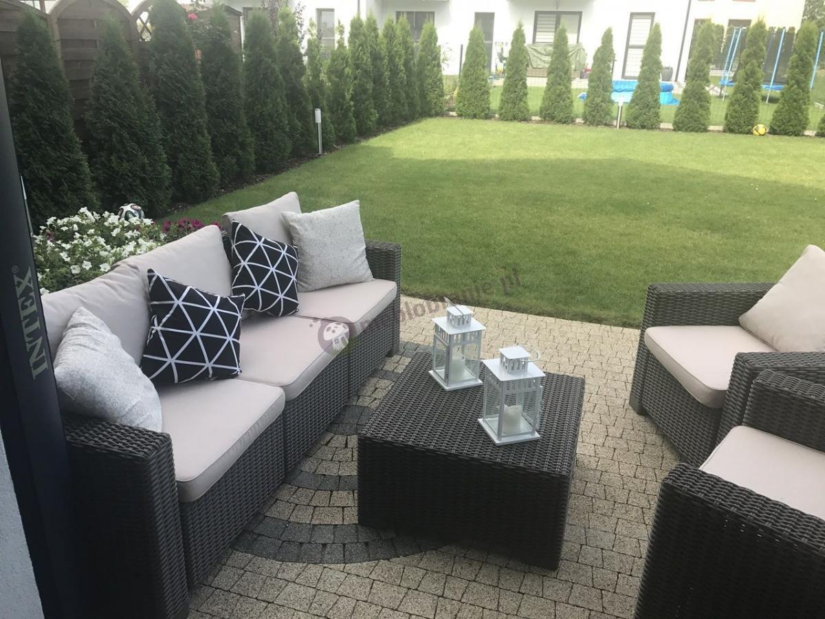 Duży zestaw mebli ogrodowych California 3 Seater - Cappuccino