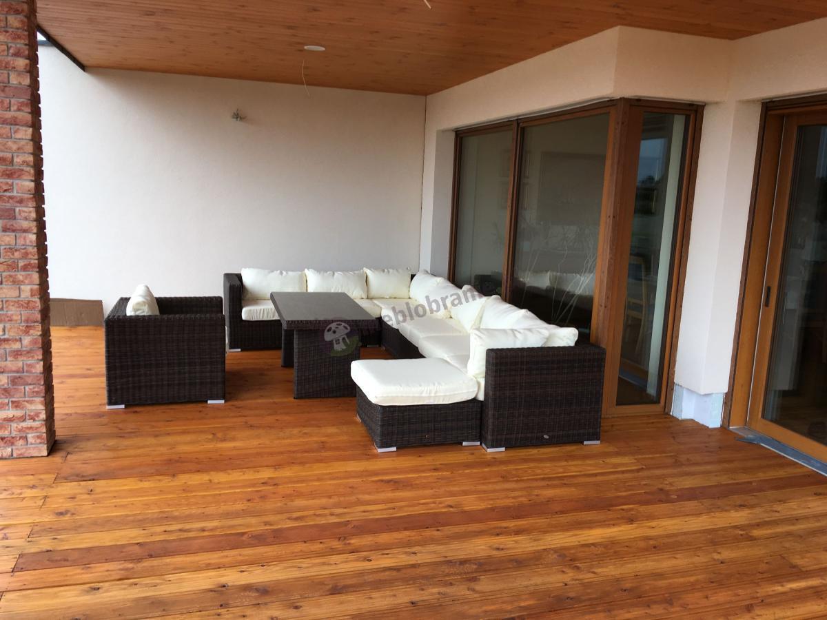 Duży zestaw na duży taras narożnik Ligurito wysoki stół
