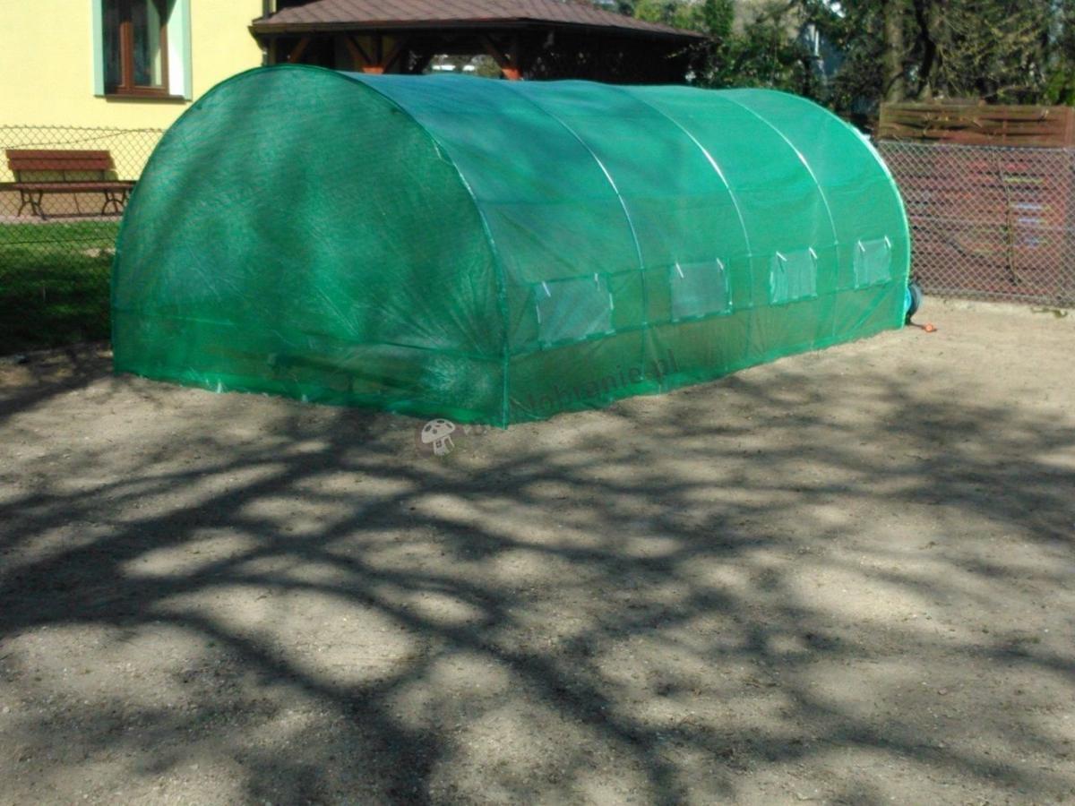 Duży zielony tunel foliowy metalowy 6*3 m