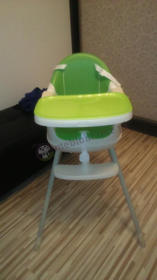 Dziecięce krzesełko do karmienia Multidine w zielonym kolorze