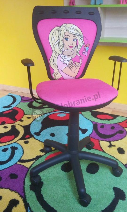 Dziecięcy fotel obrotowy Ministyle Barbie z Pieskiem