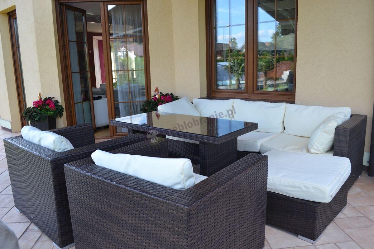 Ekskluzywne meble balkonowe z technorattanu Nilamito