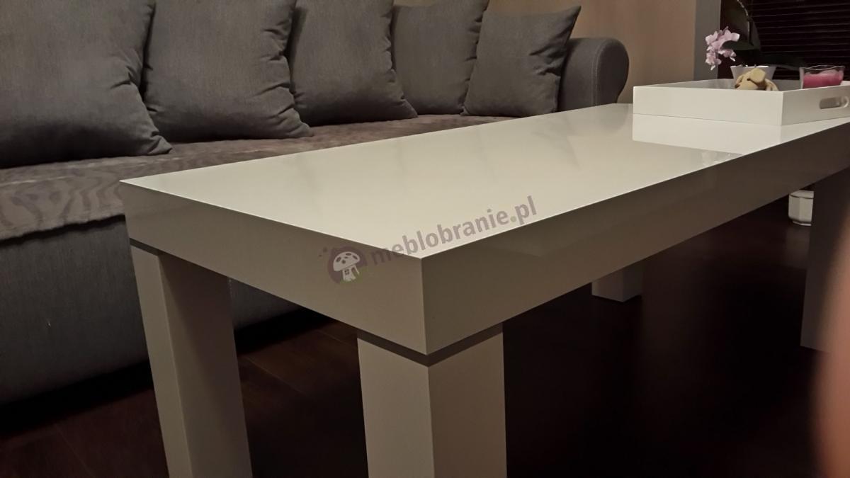 Elegancka ława do salonu biała Monaco PR 120