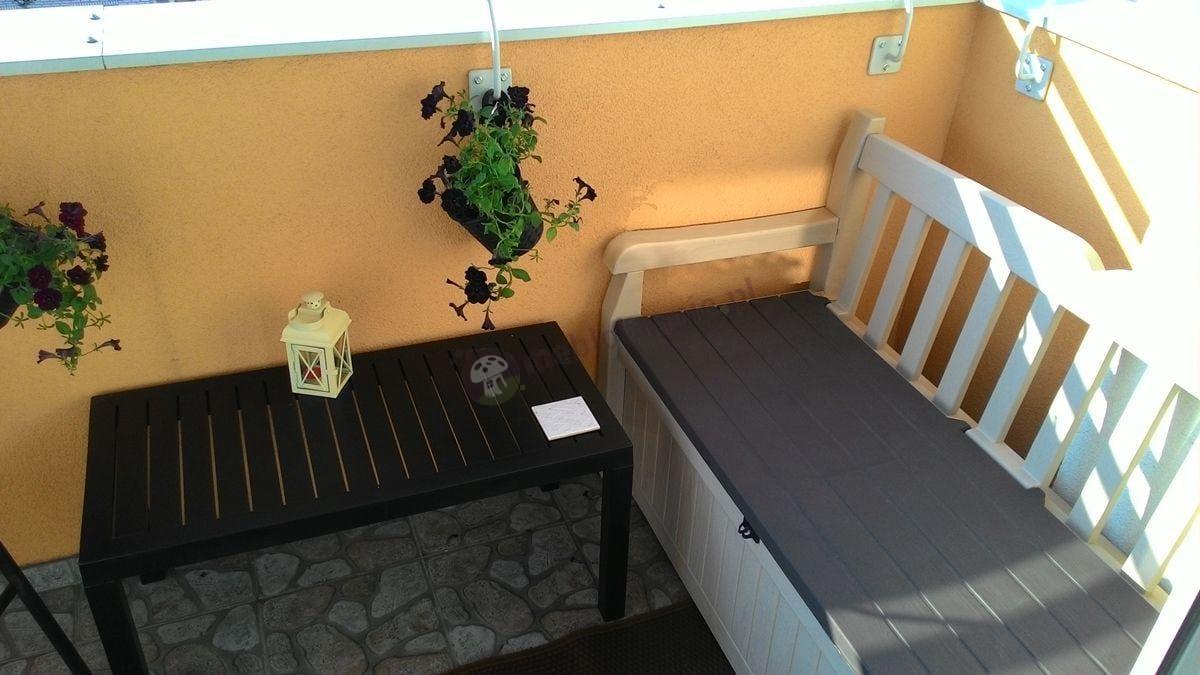 Elegancka ławka ze skrzynią Eden Garden Bench