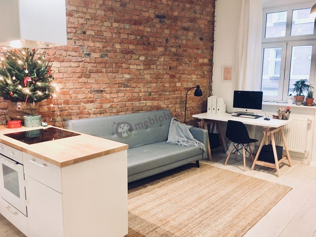 Elegancka sofa rozkładana w stylu skandynawskim Actona Leconi