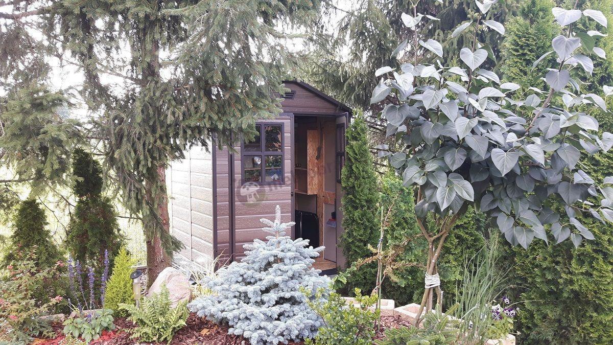 Elegancki domek narzędziowy do ogrodu Keter Scala