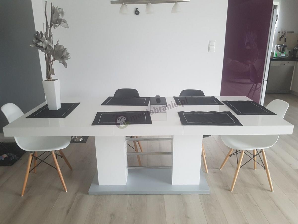 Elegancki stół w wysokim połysku Linosa 2