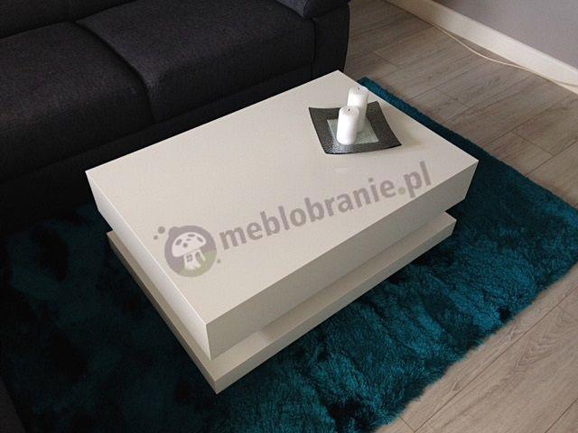 Elegancki stolik do salonu Tora biały