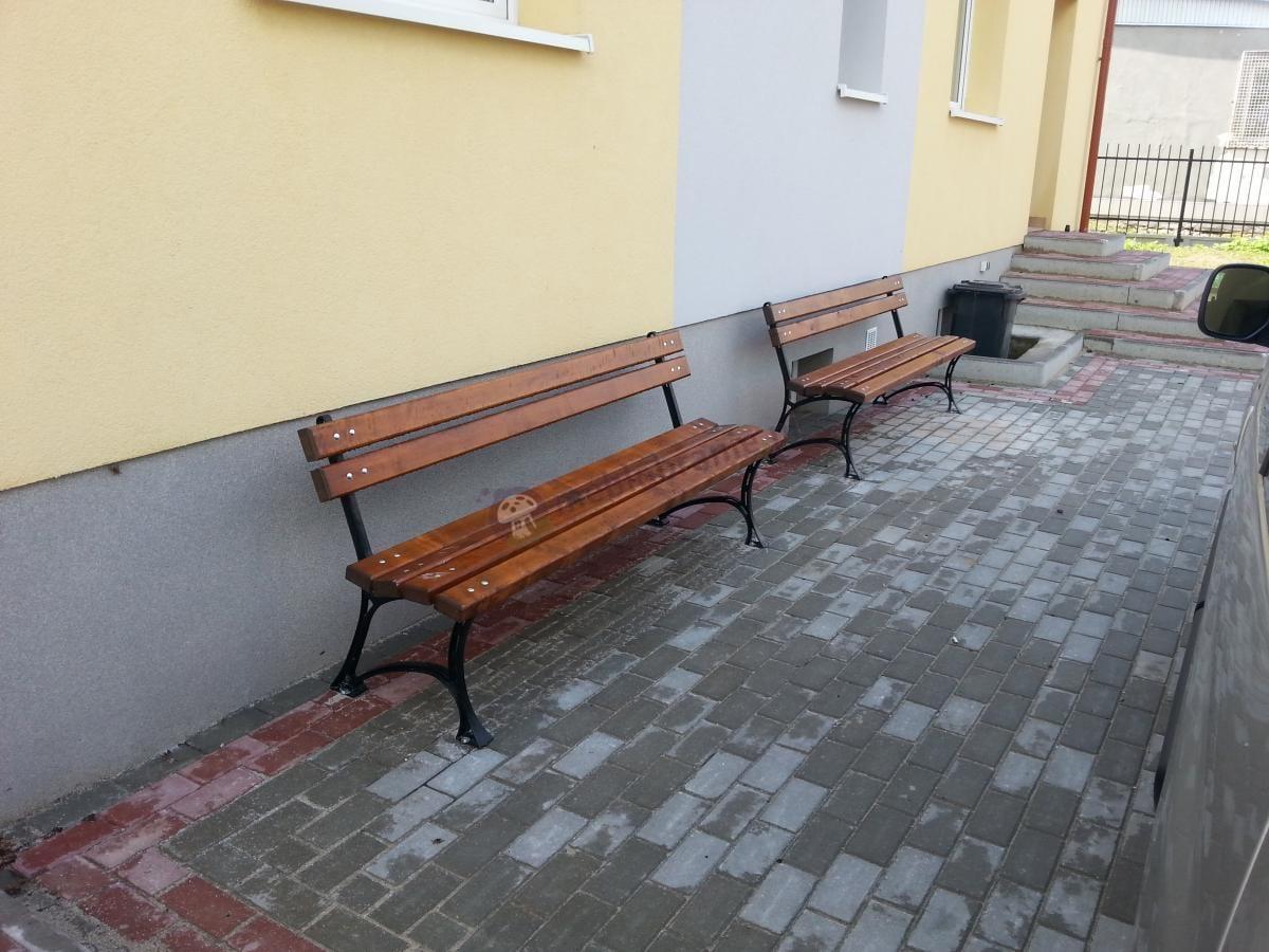 Fiemar ławki drewniane o długości 180 cm