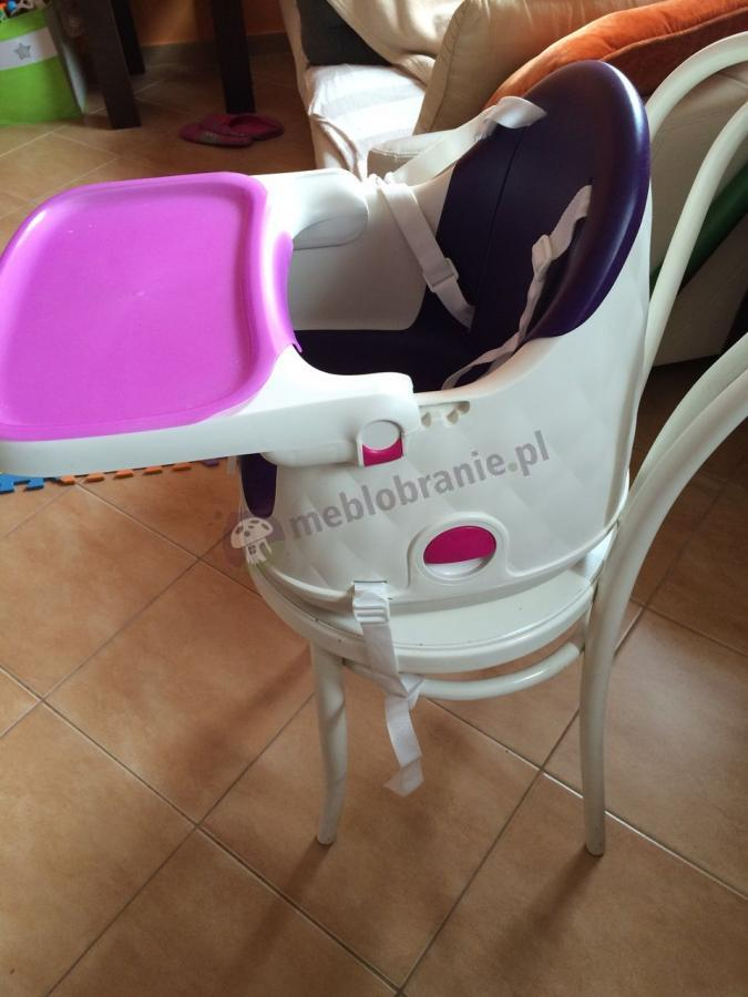 Fioletowe siedzisko do karmienia dla dziecka z pasami Keter Multidine