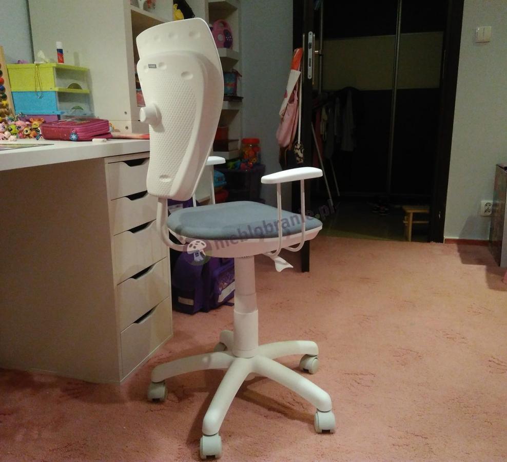 Fotel biurowy dla dzieci Ministyle White M47