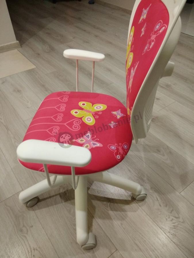Fotel obrotowy dla dziecka Ministyle White Butterfly
