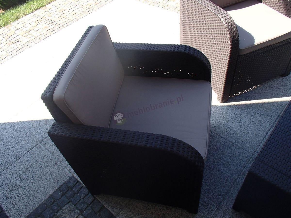 Fotel ogrodowy z poduszkami z zestawu Modena