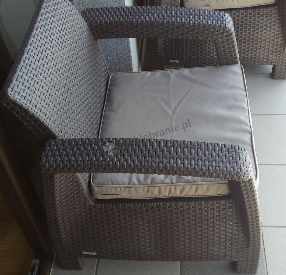 Fotel technorattan Corfu brązowy z kompletu Corfu Set