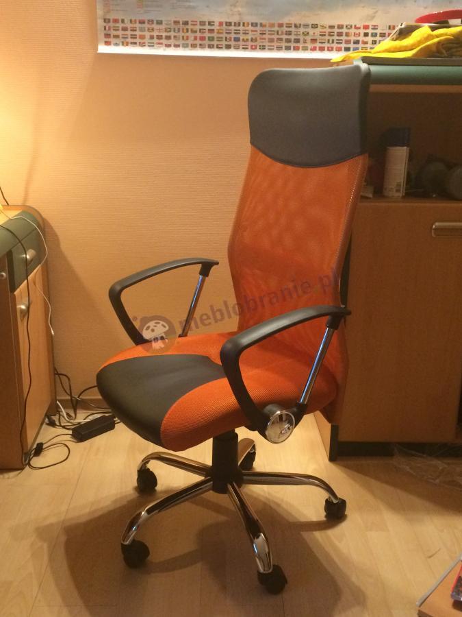 Fotel z profilowanym oparciem Viper w pomarańczowym kolorze